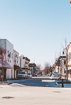 Mexicantown's new streetscape has a plaza-like feel.