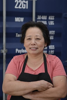 Chef Genevive Vang at Detroit Shipping Company's Bangkok 96 Street Food.