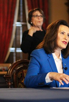 Gov. Gretchen Whitmer announces stay-at-home order.
