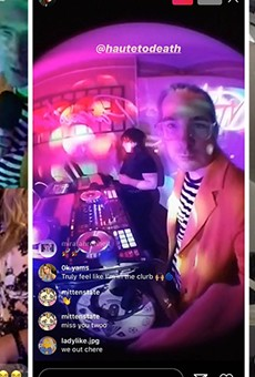 Stream on: Local musicians have turned to livestreaming to keep the party going during the coronavirus, including DJs Haute to Death (left and center) and Sara Barron (right).