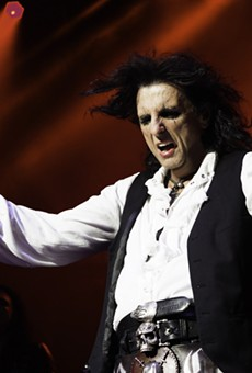 Alice Cooper performing at DTE Energy Music Theatre, 2019.