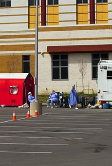 Emergency room at the John D. Dingell VA Medical Center in Detroit.