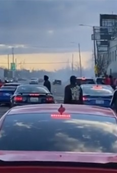 Video shows Detroiters disregarding stay-at-home order, watching car stunts