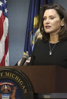 Gov. Gretchen Whitmer at a recent press conference