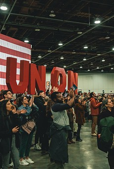Thousands of people attended a rally for presidential candidate Bernie Sanders at Detroit's TCF Center on Friday, March 6. Within weeks, the center was transformed into a field hospital for COVID-19 patients.