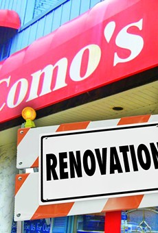 This photo illustration from Como's Facebook page fails to mention the reasons behind the restaurant's closure.