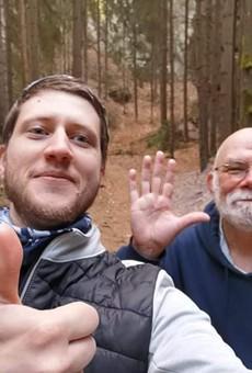 Florin Radoi and Rick Manore at Cesky Raj, a small mountain & canyon range north of Prague.