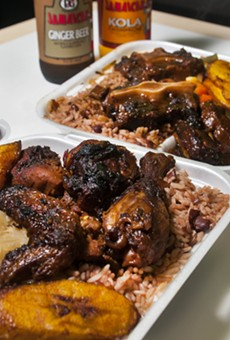 Jerk chicken and Jamaican Oxtail at Caribbean Citchen.