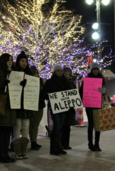 WSU's Students Organize for Syria chapter holds candlelight vigil for Aleppo