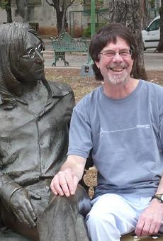 Peter Werbe poses in Havana at John Lennon Park.
