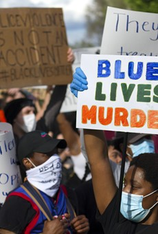 A recent protest against police brutality in Detroit.