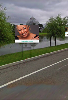 A rendering of tribute boards along Belle Isle for Detroit Memorial Day on Aug. 31.