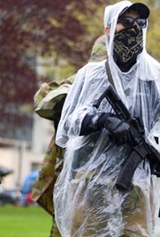 Armed protesters in Lansing protest Gov. Gretchen Whitmer's coronavirus lockdown.