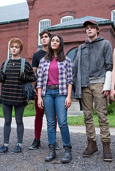 Maisie Williams, Henry Zaga, Blu Hunt, Charlie Heaton and Anya Taylor-Joy in The New Mutants.