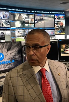 DPD Chief James Craig inside the city's Real Time Crime Center at police headquarters.