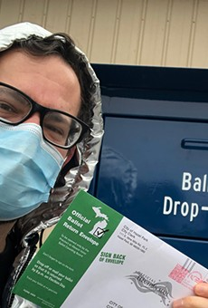 We repeat: Michigan, do NOT mail your absent voter ballot! Drop it off instead.