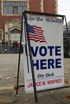 Polling station in Detroit.