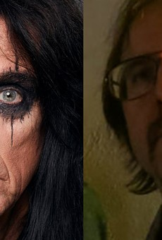 Alice Cooper, left, covered a song by Matthew Smith's (right) band Outrageous Cherry.