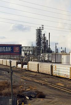 Marathon's oil refinery in Southwest Detroit.