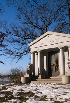 Carhartt Mausoleum at Woodmere Cemetery.