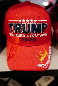 County commissioner violated campaign law by wearing Trump hat at public meeting, state rules (2)