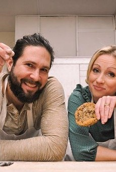Promenade Artisan Foods owners Chelsie and Jono Brymer show off their goods ... baked goods, that is.