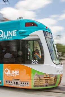 One of Detroit's QLine streetcars.