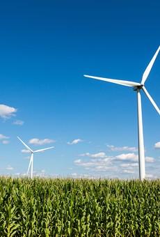 A wind farm in Michigan.