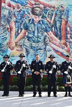"""The Detroit Institute of Arts received backlash after debuting a public artwork for the Sterling Heights Police Department that critics say reads as """"pro-cop"""" propaganda."""