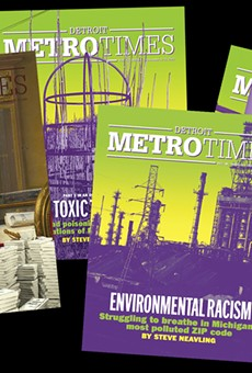 The covers from Metro Times's SPJ award-winning stories.