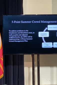 DPD Interim Police Chief James White andMayor Mike Duggan announced an increased presence in the city this summer.