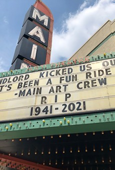 Royal Oak's longstanding Main Art Theatre is no more, according to its marquee.