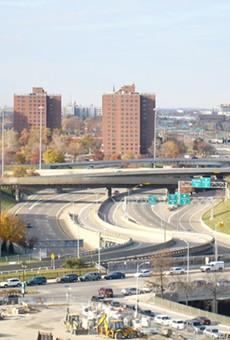 Detroit's I-375 in 2007.