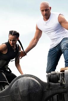 Nathalie Emmanuel and Vin Diesel in F9.