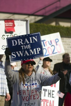 Supporters of former President Donald Trump rallied in Detroit in November, claiming widespread election fraud.