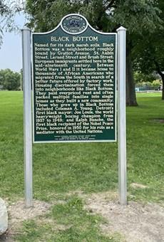 Black Bottom neighborhood receives state historical marker.