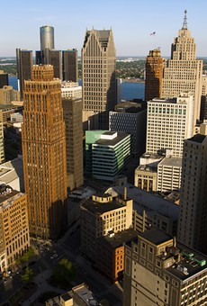 Downtown Detroit from the top of Book Tower.