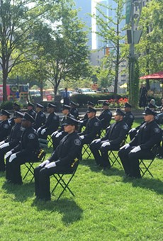 Ceremony for graduating Class 2021-H in Detroit.