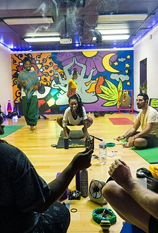 Elevated Yogi is a Black-owned yoga studio that hosts smoke sessions before every class.