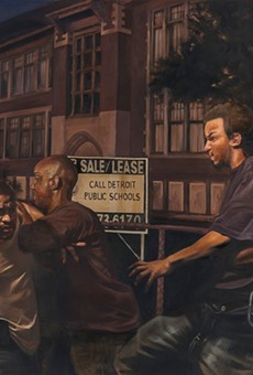 Art gets real: Detroit artist Mario Moore draws from life for inspiration for his realistic paintings.