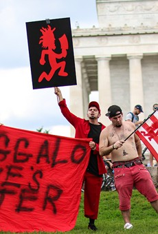 Juggalos march on Washington, DC in 2017 to protest the FBI's gang designation.