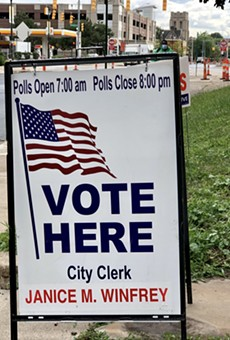 Election sign in Detroit.