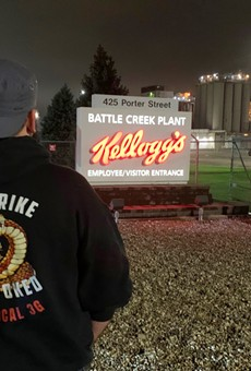 More than 1,400 Kellogg's workers are on strike.