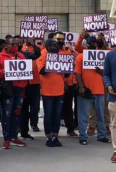 Protesters demand new maps that preserve majority-Black districts in Michigan
