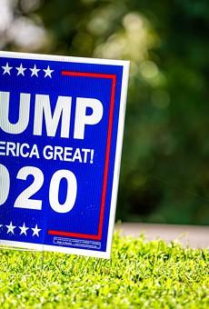 President Donald Trump 2020 election yard sign.