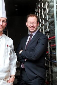 Chef Kevin Green, left, and Epicurean Group President Eric Djordjevic.