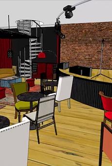Rendering of new Vernor Café.