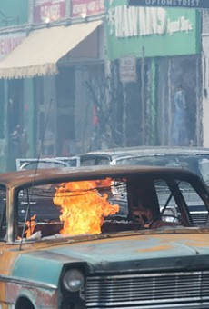 Still from the upcoming Detroit, the upcoming dramatization of the Motor City's infamous 1967 summer of civil unrest.