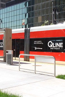Detroit's new QLine streetcar, which will open to the public Friday.