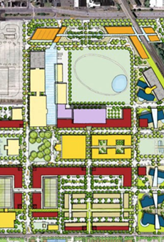 Proposal map from the Michigan State Fairgrounds Development Coalition